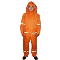 天堂 T093A 环保雨衣套装 环卫绿化工程消防机场橘黄色雨衣
