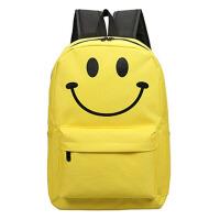 智尔娜 中学生书包双肩包女韩版帆布学院风纯色简约女休闲旅行背包