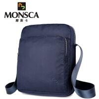 摩斯卡MONSCA 男包时尚休闲男士单肩包大容量牛津布男款斜挎包 ipad包包