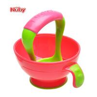 Nuby努比食物研磨器 宝宝辅食研磨碗 婴儿手动辅食工具