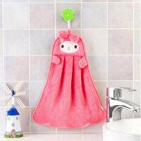 卡通加厚珊瑚绒擦手巾 厨房浴室强吸水挂式搽手巾厨房抹布洗碗布毛巾