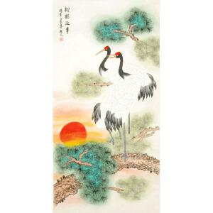 国家一级美术师 姚桂元《松鹤延年》 YGY101