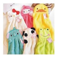 陆捌壹肆 新hello kitty 甜美糖果色 珊瑚绒卡通毛巾 创意可挂面巾擦手巾  1个装