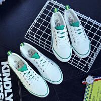 夏季白色帆布鞋女韩版低帮平底系带透气小白鞋休闲鞋学生布鞋单鞋