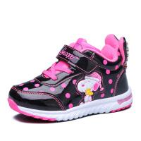 史努比童鞋女童鞋加绒女童棉鞋波点儿童运动鞋保暖休闲鞋
