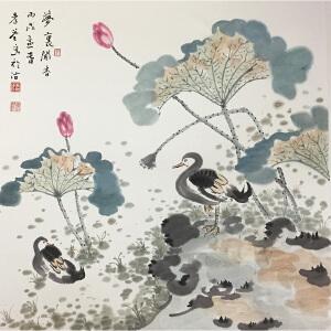 李孝萱《花鸟》著名画家