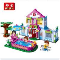 邦宝 媚力都市系列 拼装小颗粒积木女孩玩具梦幻屋6109