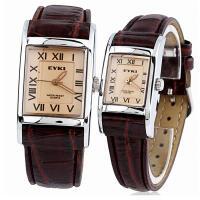 正品 艾奇韩版潮流时尚罗马字复古防水表皮带男女手表石英表对表
