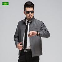 逸纯印品(EASZin)男士夹克 中老年 短款 立领 时尚拉链 男装薄款外套