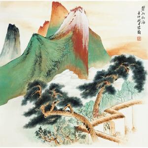 刘紫岗《碧山如海》著名画家