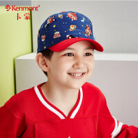 kenmont儿童帽子可爱卡通图案男童帽秋冬韩版潮时尚拼接鸭舌帽5858