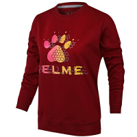 KELME卡尔美 K36C7006 女式运动卫衣 修身圆领套头衫 字母印花休闲长袖卫衣