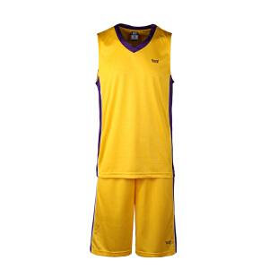 沃特篮球服套装男队服比赛训练服运动短袖球衣背心