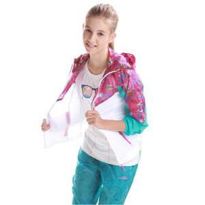 camkids小骆驼童装 夏季女童外套 儿童户外轻薄风衣运动服 516414 上衣