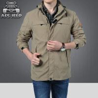AFS JEEP冲锋速干衣夹克男中长款战地吉普男装夹克外套户外登山服秋季外套