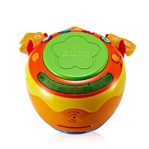 Auby澳贝 音乐欢乐拍拍鼓手拍鼓宝宝婴儿玩具鼓 玩具音乐鼓 463423