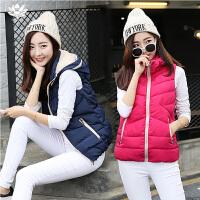 逸纯印品(EASZin)韩版2016秋冬新款立领连帽羽绒棉马甲背心