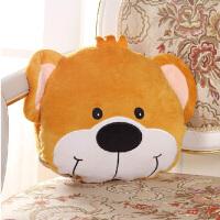 伊暖儿 宠.爱USB动漫可爱电暖宝暖手捂 电热抱枕午睡旅行护腰颈抱枕 靠枕 靠垫  (双发热芯) 帅气小熊
