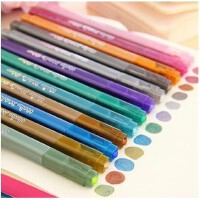 韩酷202手工相册 油漆笔金属笔 金银笔 婚礼签到笔 12色套装