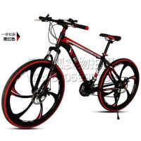 k自行车山地21速24速学生男女变速双碟刹山地车 27速自行车单车