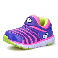 史努比童鞋男童毛毛虫童鞋春季透气网鞋女童儿童运动鞋宝宝休闲鞋
