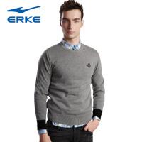 鸿星尔克erke时尚修身短款男圆领线衫11214150451
