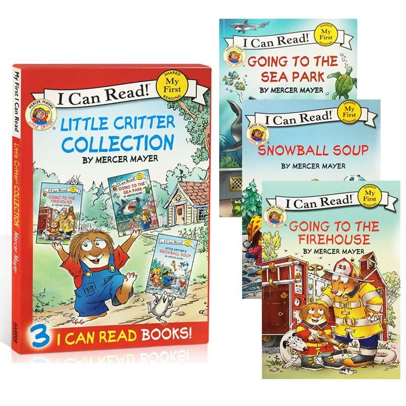 I can read My first Little Critter 小怪物系列3本盒装 幼儿启蒙认知英文原版 婴儿读物   送音频