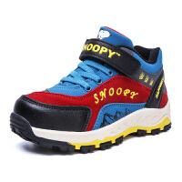 史努比童鞋男童棉鞋儿童运动鞋新款加绒保暖中大童户外鞋