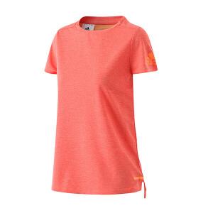 adidas阿迪达斯女装短袖T恤2017新款运动服BP6713