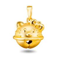 先恩尼黄金 足金吊坠 XQZA62001叮当猫 黄金吊坠 可爱猫头 墨镜 女 手表学生