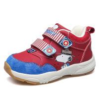 史努比童鞋男童学步鞋宝宝机能鞋冬季儿童运动鞋男童棉鞋加绒