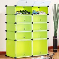 蜗家树脂防尘简易鞋柜 多功能组合鞋架 树脂鞋柜MXJ4510
