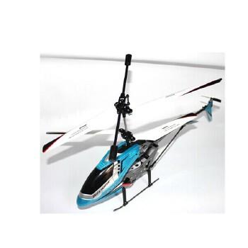 暴龙k907耐摔遥控直升机 3.5通道充电遥控直升飞机航模 儿童玩具_蓝色