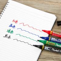 日本派通Pentel圆头记号笔 防水油性笔箱头笔标记笔儿童勾线笔