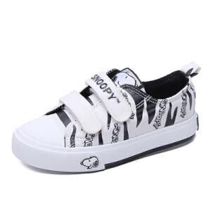 史努比童鞋男童帆布鞋可爱卡通布鞋新款运动鞋时尚板鞋潮