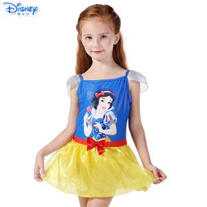 迪士尼儿童公主连衣裙式衣防晒韩版连体女孩泳装女童泳衣SPQ10011