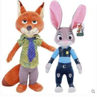 【全店支持礼品卡】正版疯狂动物城公仔大号毛绒玩具兔子朱迪狐狸尼克布娃娃儿童生日礼物女生