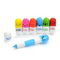 六一儿童礼物  药丸笔圆珠笔 创意文具 小学生奖品可爱伸缩笔 10克
