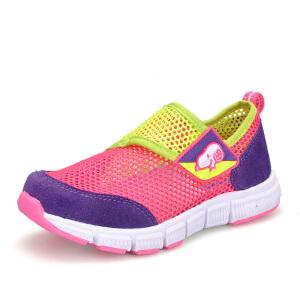 史努比童鞋网布透气休闲一脚蹬鞋男女童单网鞋运动鞋