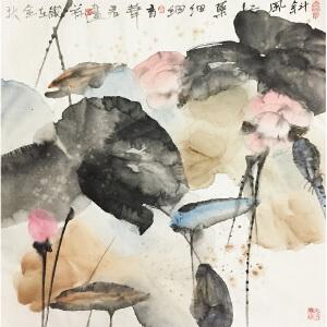 周华君《莲塘》著名画家