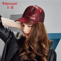 kenmont新品女士帽子秋冬女棒球帽韩版潮时尚户外休闲鸭舌帽 女2437