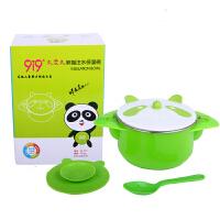 久爱久熊猫注水保温碗 婴儿碗 儿童餐具 吸盘碗