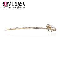 皇家莎莎Royalsasa韩版头饰流行时尚款人造水晶横夹发饰-钻蝶相守