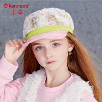 3-6岁小孩加厚毛绒帽女孩鸭舌帽秋冬保暖帽彩色拼接冬季儿童帽子 4753