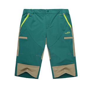 camkids小骆驼男童裤子童装短裤 夏季儿童速干七分裤536559