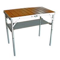 Nevalend/纳瓦兰德 豪华系列天然竹板面升降对折小折叠桌 NC207010 野餐桌