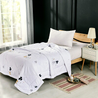 当当优品家纺 水洗棉裸睡夏凉被 200x230双人空调被 甜蜜(白)