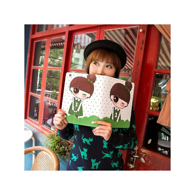 gxi 韩国小清新ipad air保护套 苹果ipad 5代可爱情侣小希纤薄保护壳