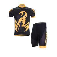 XINTOWN黄蝎子夏季短袖骑行服情侣套装自行车服吸湿排汗透气速干衣
