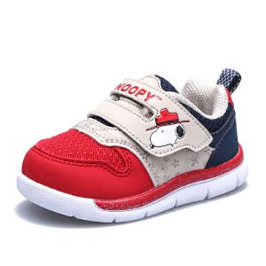 史努比童鞋男童运动鞋新2016秋款儿童网面鞋小童学步鞋女童休闲鞋